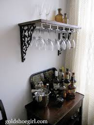 Gold Shoe Girl: Guest Post: DIY Wine Glass Rack & Beverage Center This would