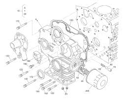Gear case and oil filter cartridge assembly