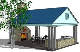 outdoor kitchen design with roof