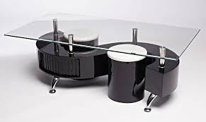 s wave glass coffee table contemporary modern rectangle glass black ukcoffeetables com