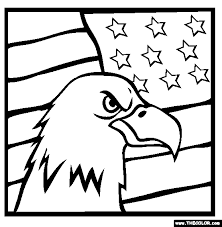 Small Picture American Bald Eagle Flag Online Coloring Page