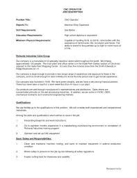 cnc machinist resume sample operator job description for template example  cover letter machine o