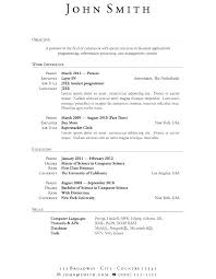 Word 2007 Resume Templates Free Word Resume Template Free With