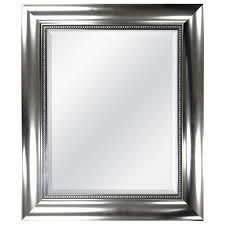 brushed nickel mirror. Style Selections Brushed Nickel Beveled Wall Mirror C