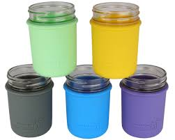 Cheap canning jars Wide Mouth Mason Jar Lifestyle Silicone Sleeve For Regular Mouth Half Pint Mason Jars
