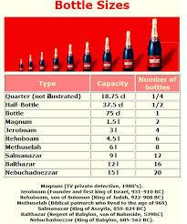 Champagne Bottle Sizes Wine Bottle Sizes Brain Sparging On