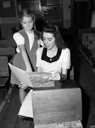Miss Maxine McDonnell and Theresa West | UTA Libraries Digital Gallery