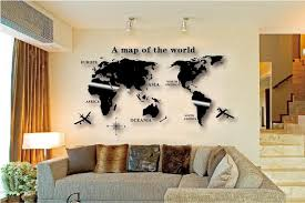 diy world map wall decor major tourist attractions maps with regard to cool map