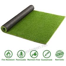 doeworks artificial grass turf area rug realistic fake grass synthetic turf lawn pet turf with drainage