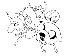 Small Picture Stunning Adventure Time Coloring Pages Jake Ideas New Printable