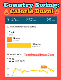 country swing calories burned workout