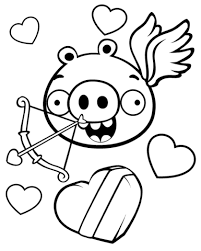 Minion Pig Valentijnsthema Kleurplaat Gratis Kleurplaten Printen