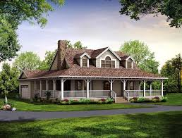 image of southern small farmhouse plans with porches