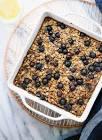 bluebery oatmeal breakfast bake
