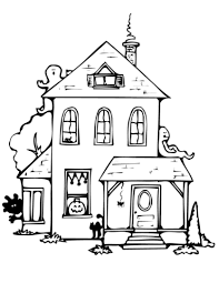 Haunted House Coloring Page Free Printable Coloring Pages