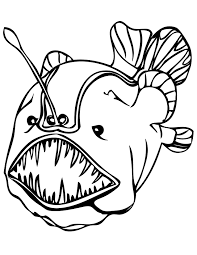 Small Picture Angler Fish Coloring Page GetColoringPagescom