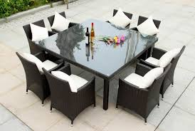 square patio table set