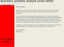System Analyst Cover Letter Business Systems Analyst Cover Letter