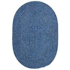 dover chenille petal blue 5 ft x 7 ft oval braided area rug