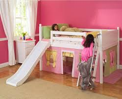 bunk bed with slide. Plain With White Wooden Bunk Bed Slide Bill House Plan A Girls Princess Castle Loft  Inside With