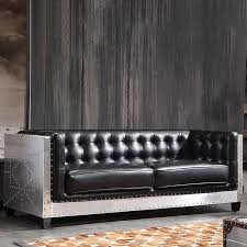 industrial upholstered pu leather sofa