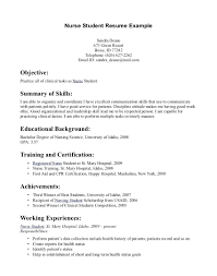 Nursing Resume Examples New Graduates New Graduate Nurse Resume