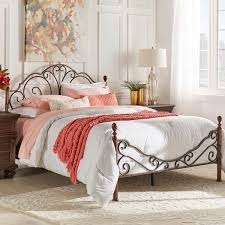 iron bedroom furniture. leann graceful scroll bronze iron bed by inspire q classic bedroom furniture