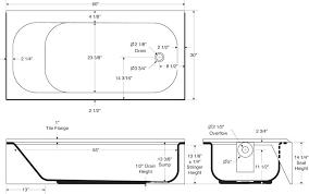 standard tub height with regard to bathtub size shower valve