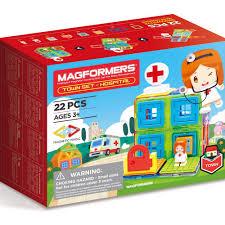 Đồ chơi xếp hình nam châm 3D Magformers - Bệnh viện 22 mảnh | FunnyLand  Official