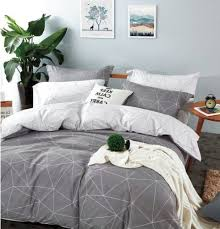 grey comforter bedroom
