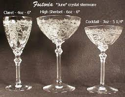 Fostoria Crystal Patterns Interesting Our House Antiques Etching Identification And Information Page
