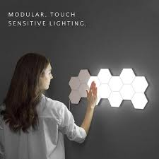Diy Wall Light Panel Us 22 75 63 Off 2019 New Cololight Quantum Lamp Touch Sensitive Light Modular Hexagon Panel Lamp Magnetic Diy Creative Decoration Wall Lighting In