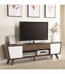 television units furniture. Beautiful Television Entertainment Units TwoTone MidCentury Modern TV Console Intended Television Furniture F