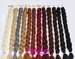 Ombre Weave Color Chart Wholesale Long Yaki Ombre Synthetic African Jumbo Braids