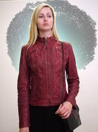 tru las red leather biker jackets