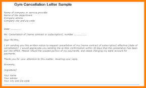 Gym Membership Cancellation Letter Gym Cancellation Letter Sample
