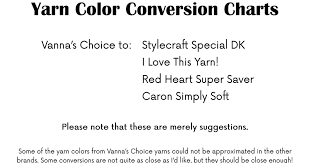 Red Heart Yarn Conversion Chart Yarn Color Conversion Chart Pdf Yarn Yarn Colors Caron