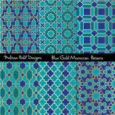 Moroccan Tile Pattern Best Blue Gold Moroccan Tile Patterns By Scrapster By Melissa Held Designs