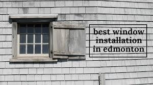 best window installation in edmonton