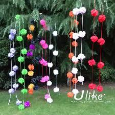 garden decoration garland tissue paper pom poms hot