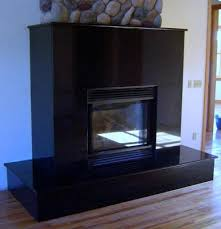 Zimbabwe Black Granite Fireplace