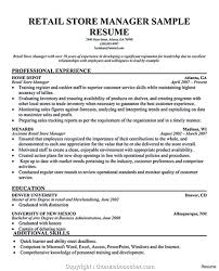 Sample Resume Of Store Manager Fresh Retail Assistant Store Manager Resume Atclgrain