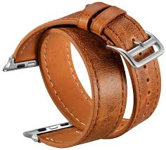 double wrap double tour leather band