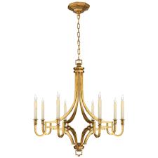 mykonos small chandelier antique brass