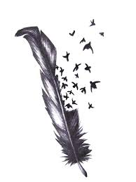 картинки по запросу єскиз тату перо с птицами перо перо тату