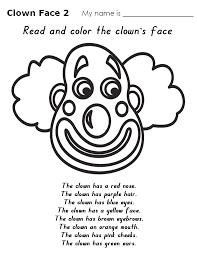 Clown Coloring Pages Clown Face Coloring