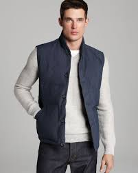 Vince Quilted Down Puffer Vest in Blue for Men | Lyst & Gallery Adamdwight.com