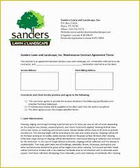 Free Lawn Care Templates Of Lawn Maintenance Contract
