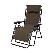 caravan sports infinity oversized brown metal zero gravity patio chair