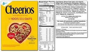 frosted cheerios nutrition label world of label in nutrition label for cheerios 22888